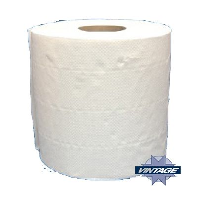 "Vintage 22910 Center Pull Roll Paper Towels, 8"" x 600', White - 6 / Case"