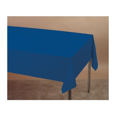"""Creative Converting 010140B Touch of Color Plastic Tablecloths, 54"""" x 108"""", Navy Blue - 24 / Case"""