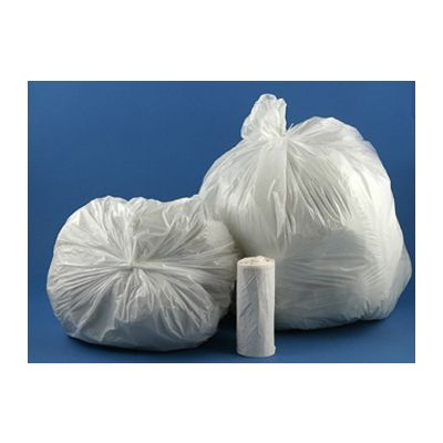 """Vintage VH404812N 50 Gallon Garbage Bags / Trash Can Liners, 40"""" x 48"""", 12 Mic, Clear - 250 / Case"""