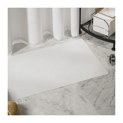 "Hoffmaster 851000 Paper Bath Mats, 13-7/8"" x 21-1/4"", White - 500 / Case"