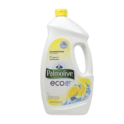 Colgate-Palmolive 42706 Eco Automatic Dishwasher Detergent Gel, Lemon Scent, 75 oz Bottle - 6 / Case
