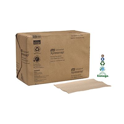 Essity DX906E Tork Xpressnap Paper Dispenser Napkin Refills, 1 Ply, Brown - 6000 / Case