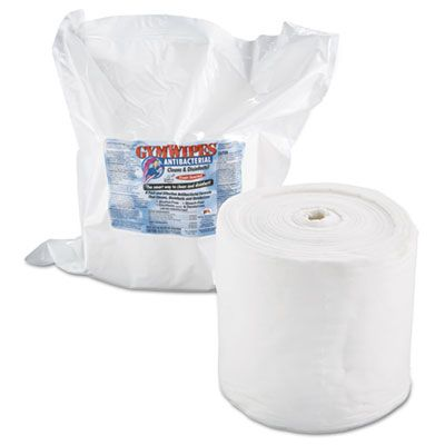 "2XL L101 Antibacterial Gym Wipes Refill, 6"" x 8"", 700 Wipes / Pack, White - 4 / Case"
