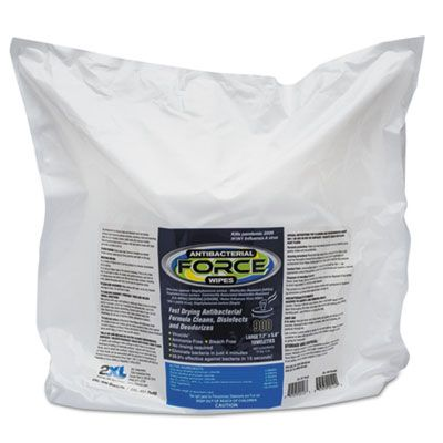 "2XL L4014 FORCE Disinfecting Wipes Refill, 6"" x 8"", 900 / Bag, White - 4 / Case"