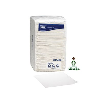 Essity B1141A Tork Universal Paper Beverage Napkins, 1 Ply, White - 4000 / Case