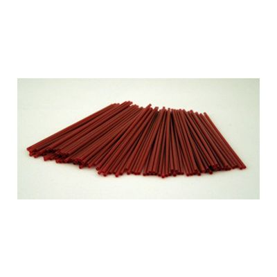 "Cardinal Straw 510150 5.5"" Plastic Coffee Stirrer Straws, Red - 10000 / Case"