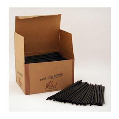 "Cardinal Straw 510146 5"" Plastic Cocktail Straw, Black - 10000 / Case"