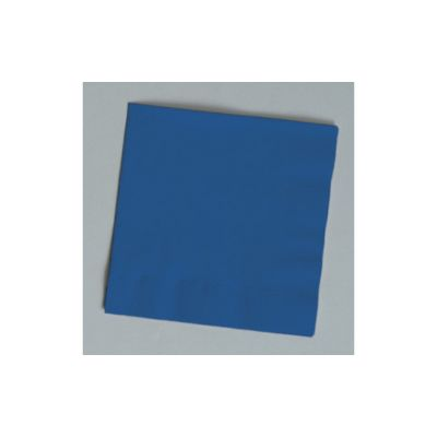 Creative Converting 801137B Touch of Color 2 Ply Paper Beverage Napkins, Navy Blue - 600 / Case