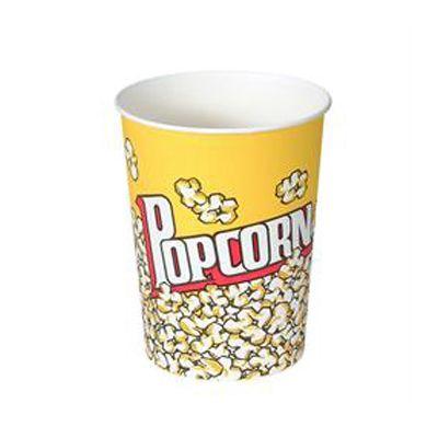Solo V32-00061 32 oz Popcorn Buckets, Grease Resistant Paper - 500 / Case