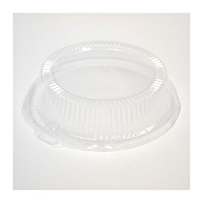 """Pactiv YCI80009 Dome Lid for 9"""" Plates, Clear - 126 / Case"""