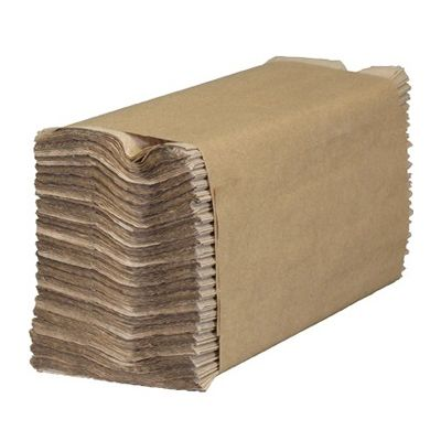 "Cascades 1754 Decor C-Fold Paper Hand Towels, 10-1/4"" x 13"", Brown - 2400 / Case"