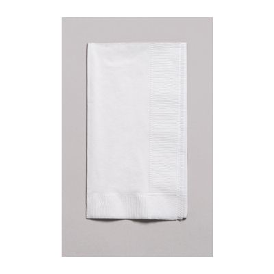 Creative Converting 67000B Touch of Color 2 Ply Paper Dinner Napkins, 1/8 Fold, White - 600 / Case