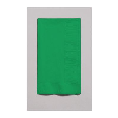 Creative Converting 67112B Touch of Color 2 Ply Paper Dinner Napkins, 1/8 Fold, Emerald Green - 600 / Case