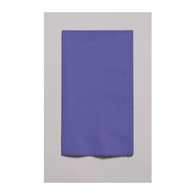 Creative Converting 67115B Touch of Color Paper Dinner Napkins, 2 Ply, 1/8 Fold, Purple - 600 / Case