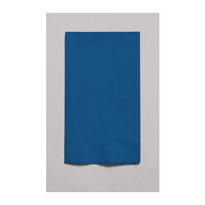 Creative Converting 671137B Touch of Color Paper Dinner Napkins, 2 Ply, 1/8 Fold, Navy Blue - 600 / Case