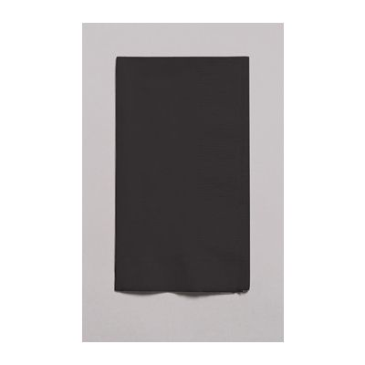 Creative Converting 67134B Touch of Color Paper Dinner Napkins, 2 Ply, 1/8 Fold, Black Velvet - 600 / Case