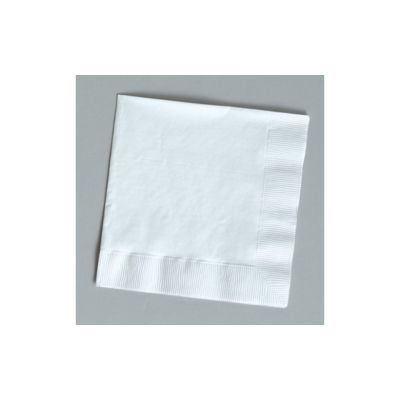 Creative Converting 139140135 Touch of Color 2 Ply Paper Luncheon Napkins, White - 600 / Case