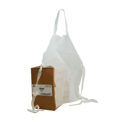 "Chicopee 0272 Chix Disposable Plastic Aprons, 32"" x 27"", White - 100 / Case"