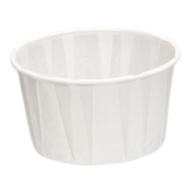 Genpak F325 Harvest 3.25 oz Paper Portion / Souffle Cups, White - 5000 / Case