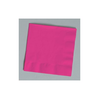 Creative Converting 139197135 Touch of Color 2 Ply Paper Luncheon Napkins, Hot Magenta - 600 / Case