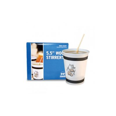 "AmerCareRoyal R810 5.5"" Wooden Coffee Stirrers - 10000 / Case"