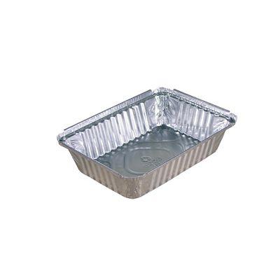 """Pactiv Y78830 2.25 lb Aluminum Foil Pans, Oblong, 7-15/16"""" x 5-7/16"""" x 1-13/16"""" - 400 / Case"""