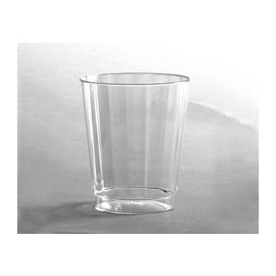 WNA CC8240 Classicware 8 oz Plastic Fluted Tumblers, Clear - 240 / Case