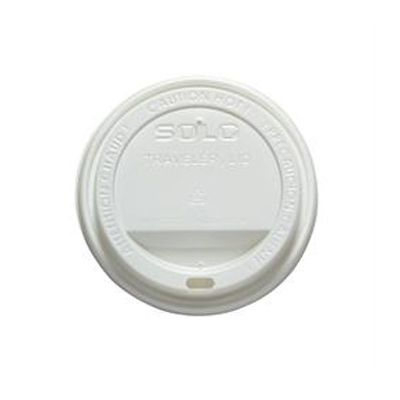 Solo TLP20-0007 Traveler Lid for 20 oz Paper Hot Cups, White - 1000 / Case