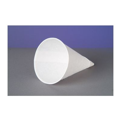 Genpak W42F Harvest 4.5 oz Paper Cone Cups, White - 5000 / Case
