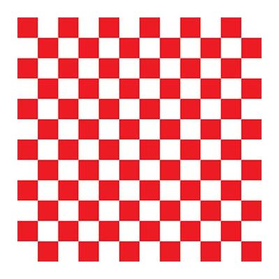 "McNairn Packaging 110840 Red Checkered Basket Liners, Dry Waxed Paper, 12"" x 12"" - 2000 / Case"