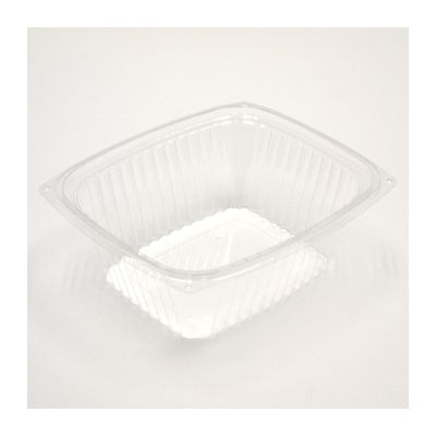 """Pactiv YCI86032 Showcase 32 oz Deli Container and Lid, 7.5"""" x 6.5"""" x 2.75"""", Clear OPS - 200 / Case"""