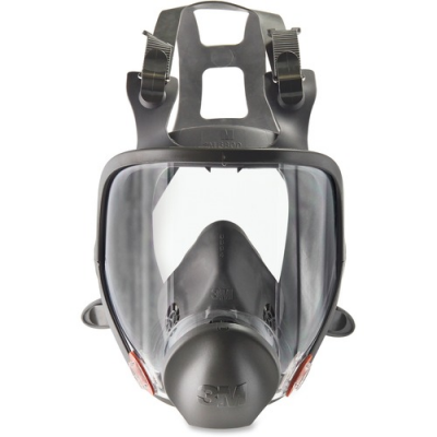 3M Full Face Respirator 6800 Safety Mask, Reusable, Black / Gray - 1 / Case