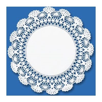"Hoffmaster 500233 4"" Paper Cambridge Lace Doilies, White - 1000 / Case"