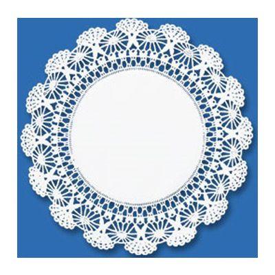 "Hoffmaster 500233 4"" Paper Cambridge Lace Doilies, White - 1000 / Case"