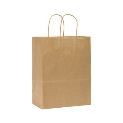 "Duro 84614 Missy Paper Medium Shopping Bags, #60, 10"" x 5"" x 13"", Kraft - 250 / Case"