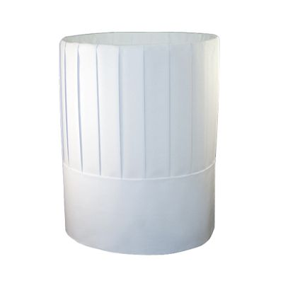 "AmerCareRoyal RCH9 Chef Hats, 9"", Pleated Paper, White - 24 / Case"