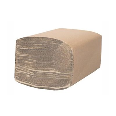 "Cascades H165 Decor Singlefold Paper Hand Towels, 9-1/8"" x 10-1/4"", Brown - 4000 / Case"