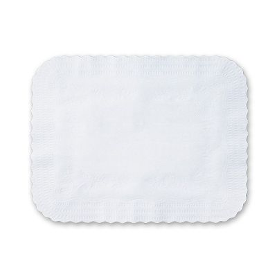 "Hoffmaster 410202 Serving Tray Liners, Embossed, 14"" x 19-1/8"", White - 1000 / Case"