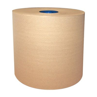"Cascades 1358 Moka Hardwound Paper Roll Towels for Tandem, 7.75"" x 775', Brown - 6 / Case"