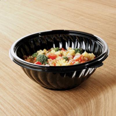 EMI Yoshi EMI-PTB80-10B PrepServe 80 oz Plastic Serving Bowls, Black - 25 / Case