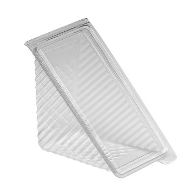 Douglas Stephen SW40SB Plastic Sandwich Wedge Hinged Containers, Clear - 250 / Case