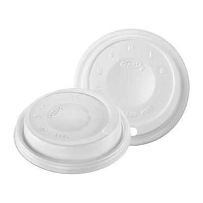 Dart 16EL Plastic Cappuccino Sip Thru Lids for Foam Cups Ending in 16, White - 1000 / Case