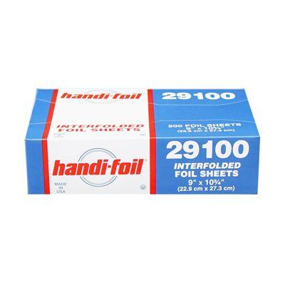 "HFA 29100 Handi-foil Aluminum Foil Sheets, 9"" x 10.75"" - 2400 / Case"