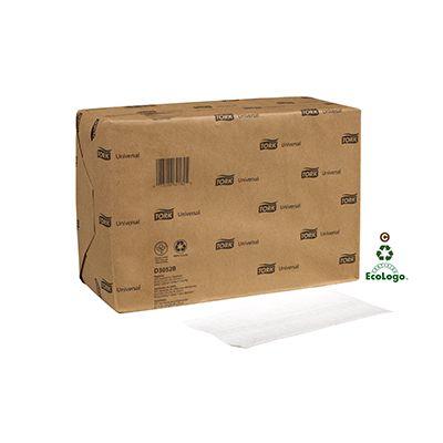 Essity D3052B Tork Universal Tallfold Paper Dispenser Napkin Refills, 1 Ply, White - 10000 / Case