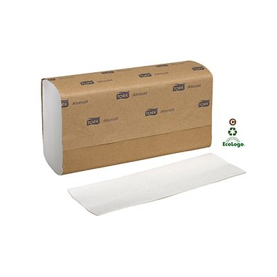 "Essity 424814 Tork Advanced Multifold Paper Hand Towels, 9"" x 9.5"", White - 4000 / Case"