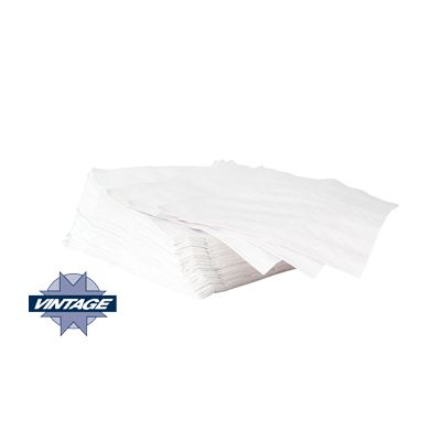 Vintage 7520 Paper Dinner Napkins, 1 Ply, 1/4 Fold, White - 3000 / Case