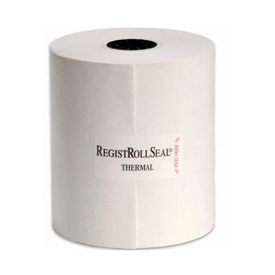 """National Checking RR633 RegistRollSeal Thermal Cash Register Rolls, 3-1/8"""" x 230', White - 50 / Case"""