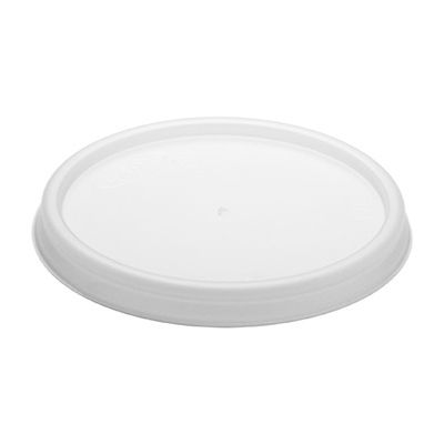 Dart 4JL Vented Plastic Lids for 4 oz Foam Cups, Translucent - 1000 / Case
