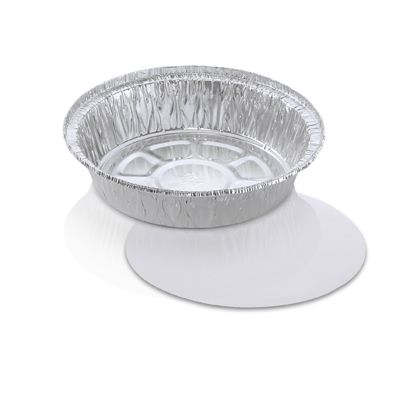 "HFA 2047-25-200W Handi-foil 7"" Aluminum Foil Carryout Containers and Board Lids, 25 oz - 200 / Case"