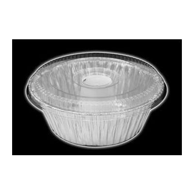 "HFA 4060-35-100WDL Handi-Foil 8"" Angel Food Cake Pan with Lid - 100 / Case"